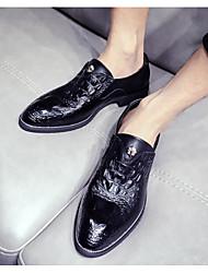 Недорогие -Муж. обувь Искусственное волокно Весна Осень Удобная обувь Мокасины и Свитер для Повседневные Черный Желтый