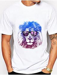 T-shirt de algodão masculino - animal