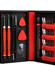 abordables -Teléfono móvil Kit de herramientas de reparación Magnetizado 38 en 1 Extensión para destornillador Destornillador Ventosa Plástico /
