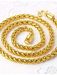 cheap -Men's Chain Necklace  -  Gold Plated Rock Gold Necklace For Street, Club