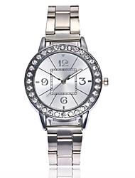 Недорогие -Жен. Нарядные часы Наручные часы Diamond Watch Кварцевый Серебристый металл / Золотистый / Розовое золото Новый дизайн Повседневные часы Имитация Алмазный Аналоговый Дамы Мода Элегантный стиль -