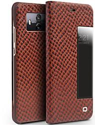 Недорогие -Кейс для Назначение Huawei Mate 10 pro Mate 10 Защита от удара с окошком Флип Чехол Сплошной цвет Твердый Настоящая кожа для Mate 10