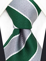 Недорогие -мужской партийный рабочий районный галстук - полосатый цветной блок жаккарда