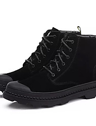 cheap -Men's Shoes Nubuck leather Winter Comfort Sneakers for Work & Safety Black