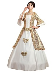 abordables -Conte de Fée Années 20 Renaissance Costume Femme Robes Tenue Costume de Soirée Bal Masqué Blanc Vintage Cosplay Polyester Sans Manches Gigot / Ballon Robe de Soirée Grandes Tailles Personnalisée