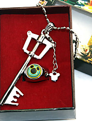 cheap -Cosplay Accessories Inspired by Kingdom Hearts Sora Anime Cosplay Accessories 1 Necklace 1 Ring Chrome