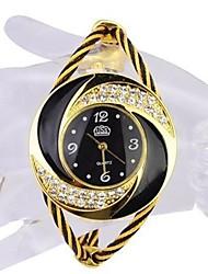 Недорогие -Жен. Для пары Кварцевый Модные часы Спортивные часы Повседневные часы Китайский Защита от влаги Повседневные часы Нержавеющая сталь Группа