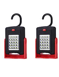 abordables -2pcs LED Night Light Blanc Batteries AAA alimentées Sécurité Transport Facile Urgence <5V