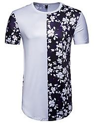 abordables -T-shirt col rond à manches courtes en polyester