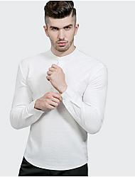 preiswerte -Herrn Solide Baumwolle Leinen Hemd Gefaltet
