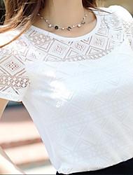 preiswerte -Damen Solide - Niedlich Street Schick T-shirt Spitze