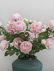 cheap -Artificial Flowers 1 Branch Wedding / European Style Roses Tabletop Flower