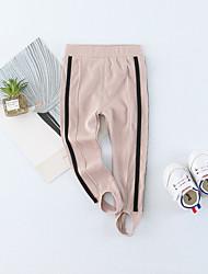 povoljno -Dijete Djevojčice Pamuk Jednobojni Prugasti uzorak Proljeće Ljeto Čarape Mikroelastično Jednostavan Ležerne prilike Obala Crn Blushing