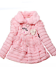 cheap -Girls' Daily Holiday Solid Blouse, Cotton Winter Fall Long Sleeves Active Blushing Pink
