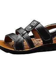 preiswerte -Jungen Schuhe PU Sommer Komfort Sandalen für Normal Schwarz Braun