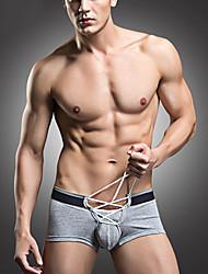 baratos -Cuidados com os miúdos com lingerie lisa sólida micro-elástica, masculinos, masculinos, algodão 1pc cinza branco vermelho