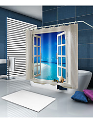 cheap -Shower Curtains & Hooks Contemporary Polyester Novelty Machine Made Waterproof
