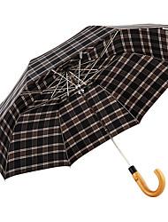 baratos -boy® Tecido Homens Ensolarado e chuvoso / Prova-de-Vento / novo Guarda-Chuva Dobrável