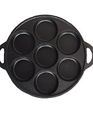 abordables -Hierro Fundido Hierro Fundido Redondo Pan Artículos de Cocina, 33*3