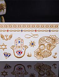 baratos -1 Estampado Á Prova d'água Séries Totem Outros Tatuagens Adesivas