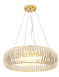 Недорогие -QIHengZhaoMing 6-Light Подвесные лампы Рассеянное освещение Электропокрытие Хрусталь Защите для глаз 110-120Вольт / 220-240Вольт Теплый белый Лампочки включены