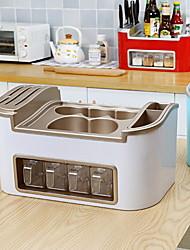 Недорогие -1 комплект Коробки для хранения ПП (полипропилен) Нержавеющая сталь Аксессуар для хранения Кухонная организация