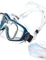 cheap -Snorkel Mask / Swim Mask Goggle Professional Level, Easily Adjustable Single Window - Swimming, Diving Tempered Glass, PC - for Adults White / Black / Blue / White / Silver / Black