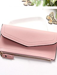 cheap -Women's Bags PU(Polyurethane) Wallet Buttons Animal Black / Blushing Pink / Gray