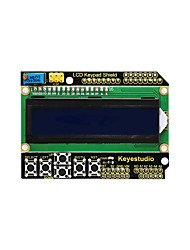 baratos -Keyestudio 1602lcd blindagem do teclado para arduino lcd display atmega2560 para frapberry pi uno blue screen blacklight module