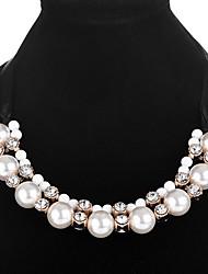 abordables -Femme Balle Imitation de perle Colliers Déclaration  -  Sexy Large Blanc Colliers Tendance Pour Vacances Plein Air