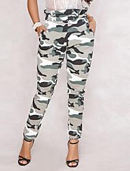 baratos -Mulheres Militar Moda de Rua Chinos Calças - camuflagem