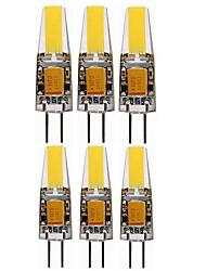Недорогие -SENCART 6шт 4W 400-450lm G4 Двухштырьковые LED лампы T 4 Светодиодные бусины COB Декоративная Тёплый белый Холодный белый 12V