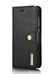 Недорогие -Кейс для Назначение Huawei P8 Lite (2017) Бумажник для карт со стендом Флип Чехол Сплошной цвет Твердый Настоящая кожа для P8 Lite (2017)