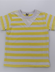 cheap -Boys' Daily Striped Color Block Tee, Cotton Summer Short Sleeves Simple Casual Green Yellow