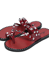 abordables -Ordinaire Chaussons Pantoufles pour Femme Polyester Cuir PVC Couleur Pleine
