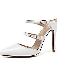 Недорогие -Жен. Обувь Материал на заказ клиента Лакированная кожа Весна Лето Оригинальная обувь Башмаки и босоножки На шпильке Заостренный носок
