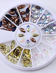 abordables -2 pcs Bijoux pour ongles Diamant / Mousseux Manucure Manucure pédicure Soirée / Fête / Quotidien Nail Glitter / Bijoux à ongles