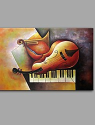 cheap -Oil Painting Hand Painted - Abstract Still Life Comtemporary Modern Canvas