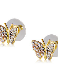 cheap -Women's Butterfly Cubic Zirconia Zircon / Gold Plated Stud Earrings - Classic / Elegant / Fashion Gold Earrings For Party / Evening /