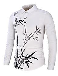 Homens Camisa Social Negócio Floral