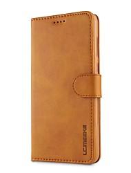 Недорогие -Кейс для Назначение OnePlus OnePlus 5T 5 Бумажник для карт Кошелек Защита от удара со стендом Чехол Сплошной цвет Твердый Кожа PU для One