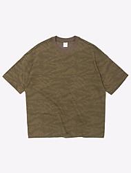 T-shirt de algodão masculino - camuflagem