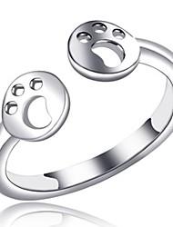 baratos -Mulheres cuff Anel / Anéis para Falanges - Cobre Fashion 7 Prata Para Diário / Escritório e Carreira