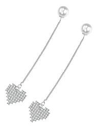 abordables -Femme Cœur Strass / Perle imitée Imitation de perle / Imitation Diamant Boucles d'oreille goutte - Sexy / Mode Argent Des boucles