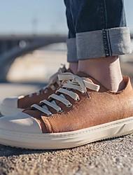 cheap -Men's Cowhide Spring Comfort Sneakers Brown / Blue / Light Brown