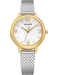 baratos -Mulheres Relógio de Moda Chinês Relógio Casual Outro Banda Fashion / Elegante Preta / Azul / Prata
