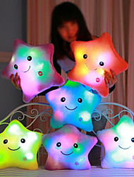 abordables -Luminous pillow Led Light Pillow Start Shape Romance Animaux en Peluche Adorable / Confortable Cadeau