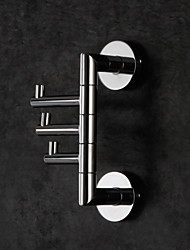 cheap -Towel Bar Foldable Multilayer Multifunction High Quality Contemporary Brass 1pc - Hotel bath Wall Mounted