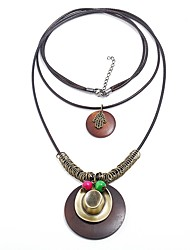 cheap -Women's Layered Necklace  -  Vintage Statement Fashion Circle Brown Necklace For Street Date