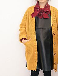 preiswerte -Mädchen Pullover & Cardigan Alltag Solide Polyester Frühling Langarm Einfach Orange Gelb